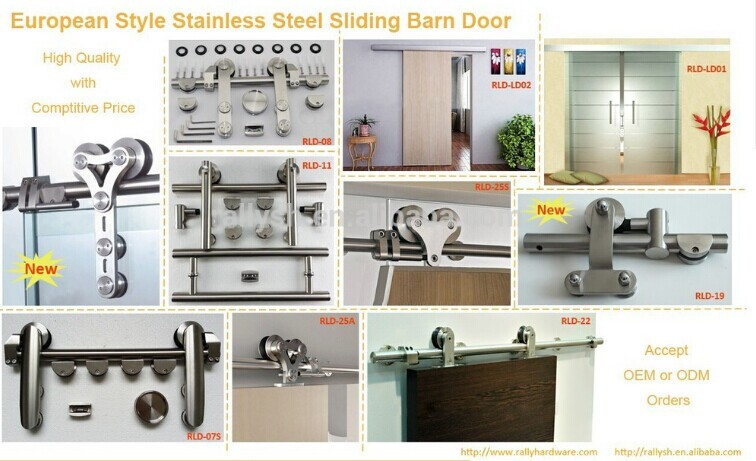 Modern Sliding Barn/Garage Wood Door Hardware Interior Or Exterior