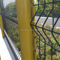 Powder coated Steel Welded Wire Mesh Residential Fencing ( Gold Supplier / China manufacturer / ISO9001)