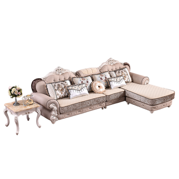 Classic French Antique Living Room Furniture Sectional Sofa Set