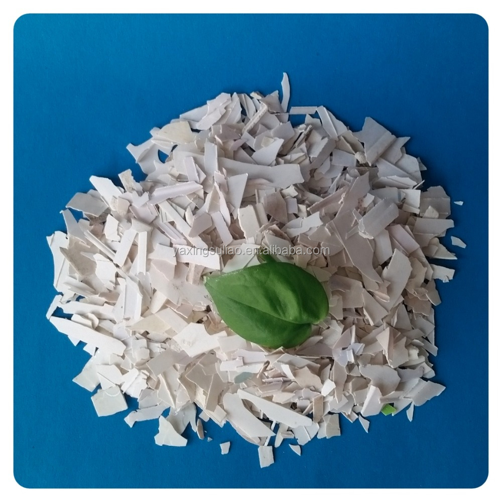 low price white color waste plastic steel PVC scraps from waste plastic steel products
