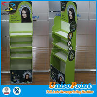 folding corrugated plastic advertising display/fruit and vegetable display stand/retail floor display stand
