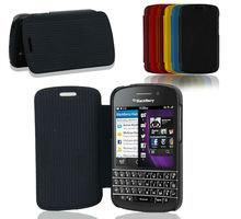 PU leather wallet book flip mobile phone case cover for blackberry Q10