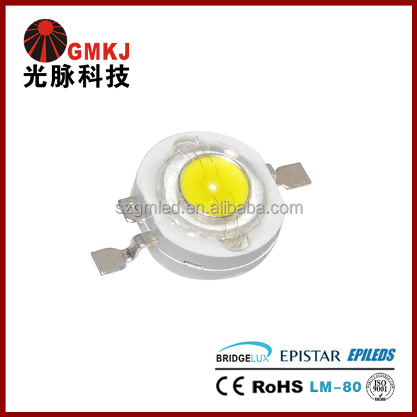 Epistar Bridgelux 100LM-260LM High Luminous 3w High Power Led 1w Led Lamp Beads 1 watt LEDs