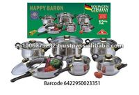 12PC Hot Sale Stainless Steel Cookware Set