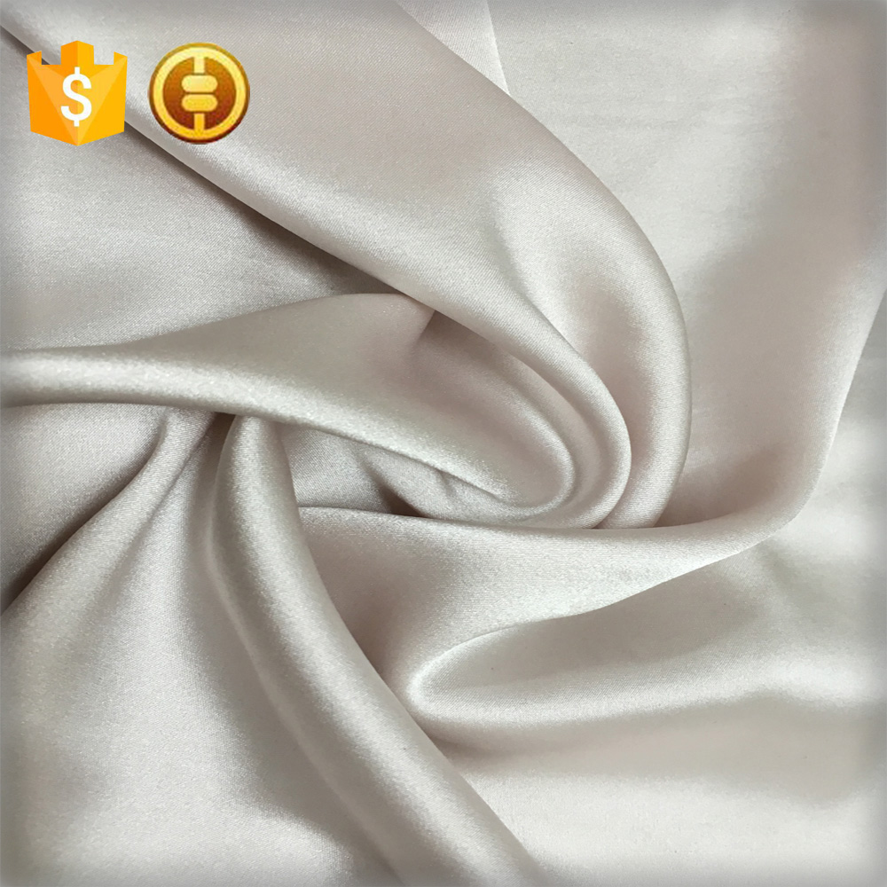 16mm stretch satin silk fabric 100 pure silk wedding dress full fress