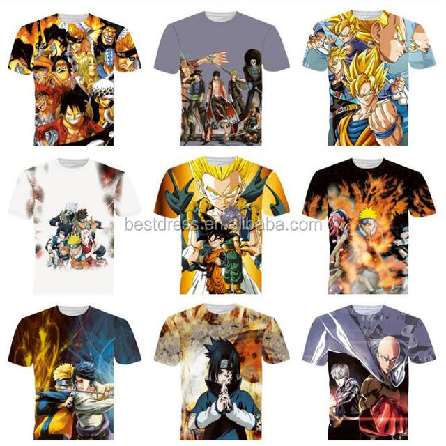 Unisex all kinds of short sleeve 3D cosplay t shirt M-2XL