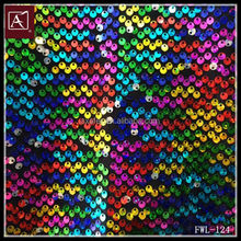 latest colorful sequin fabric embroidery design fabric