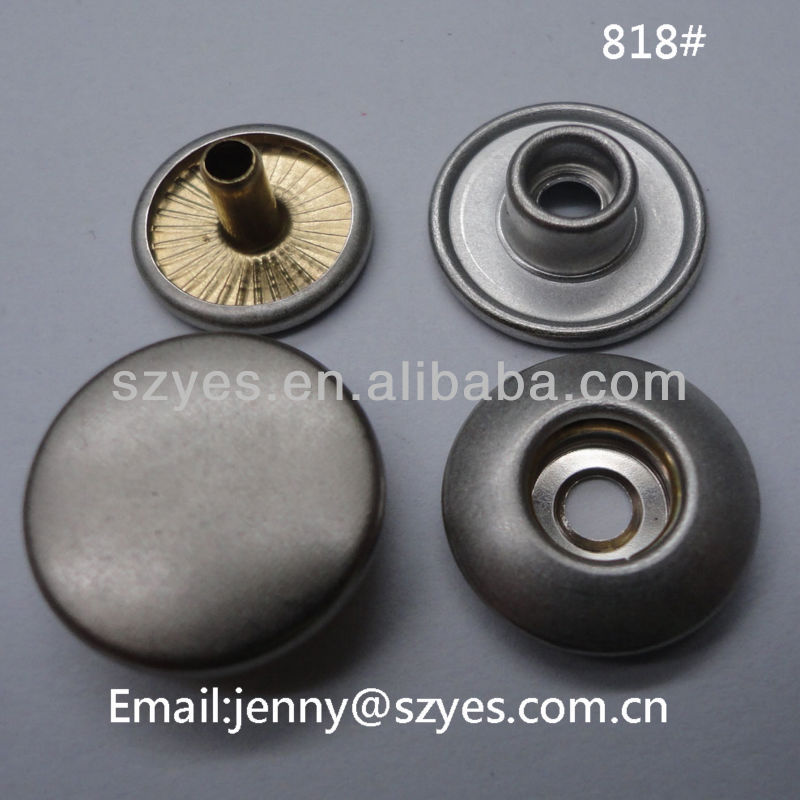 15mm spring metal snap clip button with laser logo