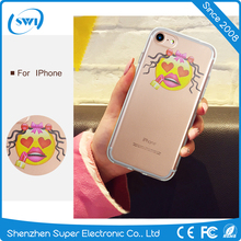 For iPhone 7 Case Tpu Funny Classic Emoji Phone Case for iPhone 7 Soft Back Cover