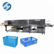 Sus304 Vegetable Basket Washing Machine/poultry Crate Washer/plastic Pallets Washing Machine