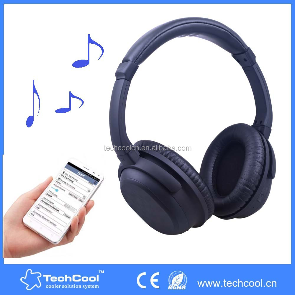 Super bass wireless bluetooth headphones active noise cancelling headphone over ear stereo bluetooth headphones