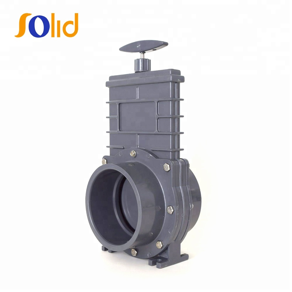 Plastic pvc gray knife gate valve for irrigation w/SS Paddle