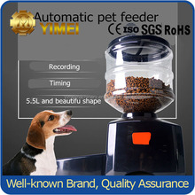 5.5 Liters Capacity Dog Pet Feeder Recordable Plastic Pet Feeder Automatic