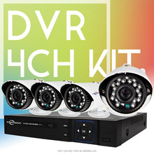 Vitevison DVR KIT of H.264 4ch DVR combo 800TVL cctv camera kit used in CCTV system