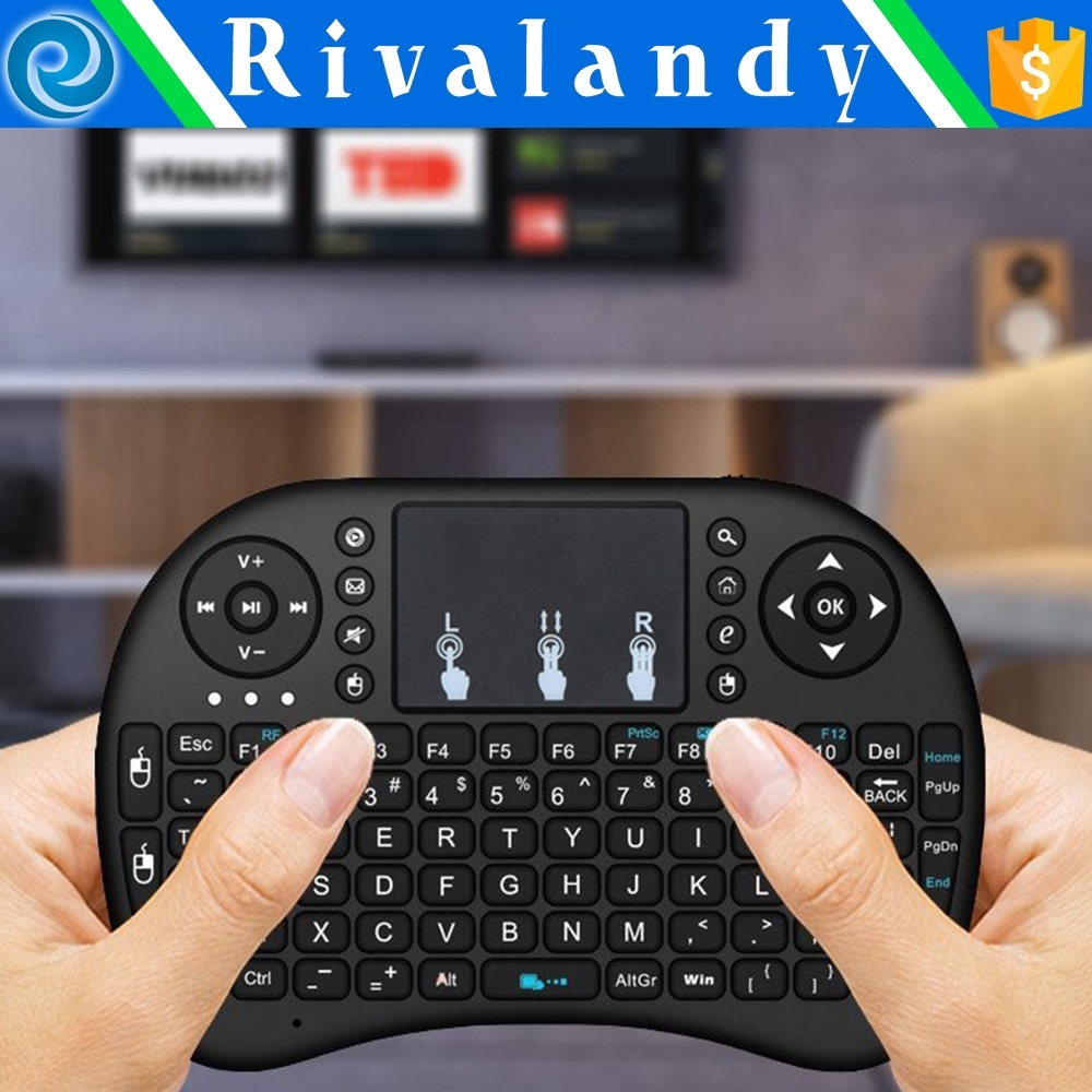 wireless keyboard with rubber trackball mouse Infrared multimedia goods in stock