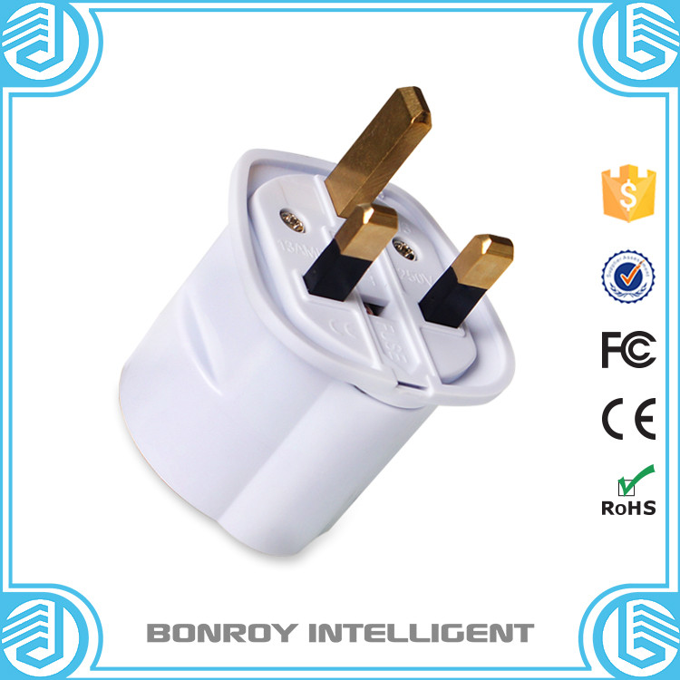 2016 wholesale hot sale good quality portable electric european to uk plug adapter
