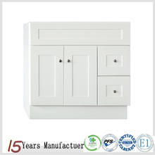 Flat Pack American KCMA Cheap Single Solid Wood White Bathroom Vanity Cabinet
