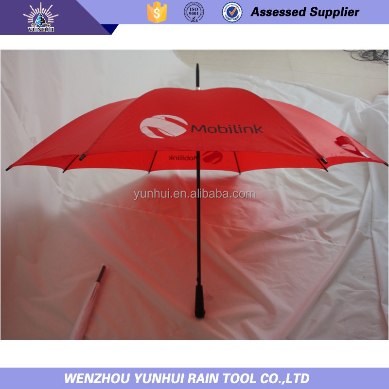 Competitive promtional hand cane straight umbrella
