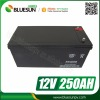 Bluesun factory price deep cycle 12v 250ah 300ah agm battery with good quality