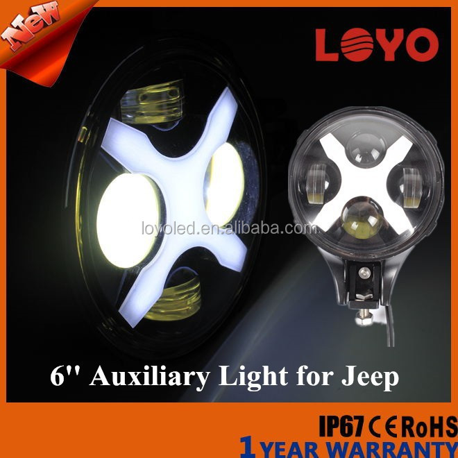 Newest Light !!! 60W 6'' LED Auxiliary Light 6 inch Offroad Led Healight for Jeep
