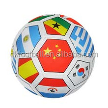 multi country flag colourful pvc soccer ball