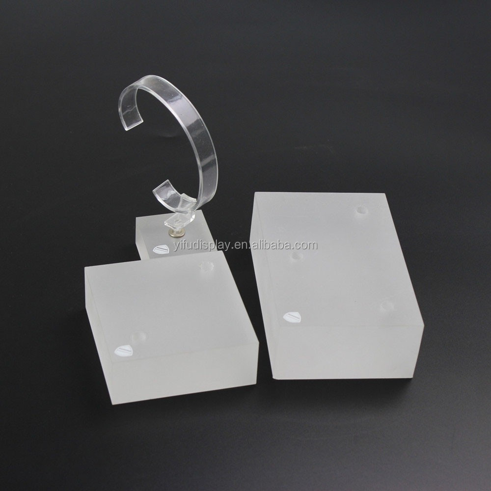 Frosted Acrylic Watch Display Stand Cube Display Stand for Watches RW001