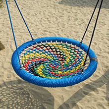 Outdoor color metal nest swing set for child and adults