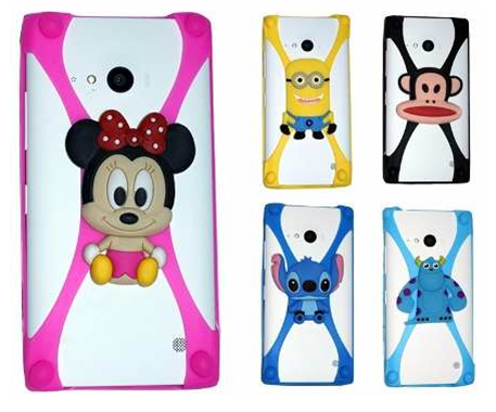 Cut animal 3D design your own silicone phone case