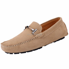 Jamron Mens Stylish Buckle Driving Shoes Good Quality Suede Loafer