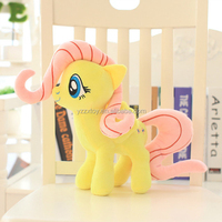 Lovely yellow stuffed plush horse toy for kids