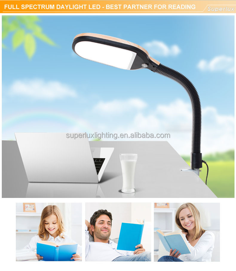dimmable LED clamp on lamp light