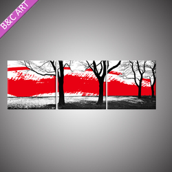 3D Wallpaper Latte Art Printing Large Outdoor Trees Painting Pictures