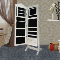 cheap white classical bedroom furniture set jewelry storage cabinet wholesale