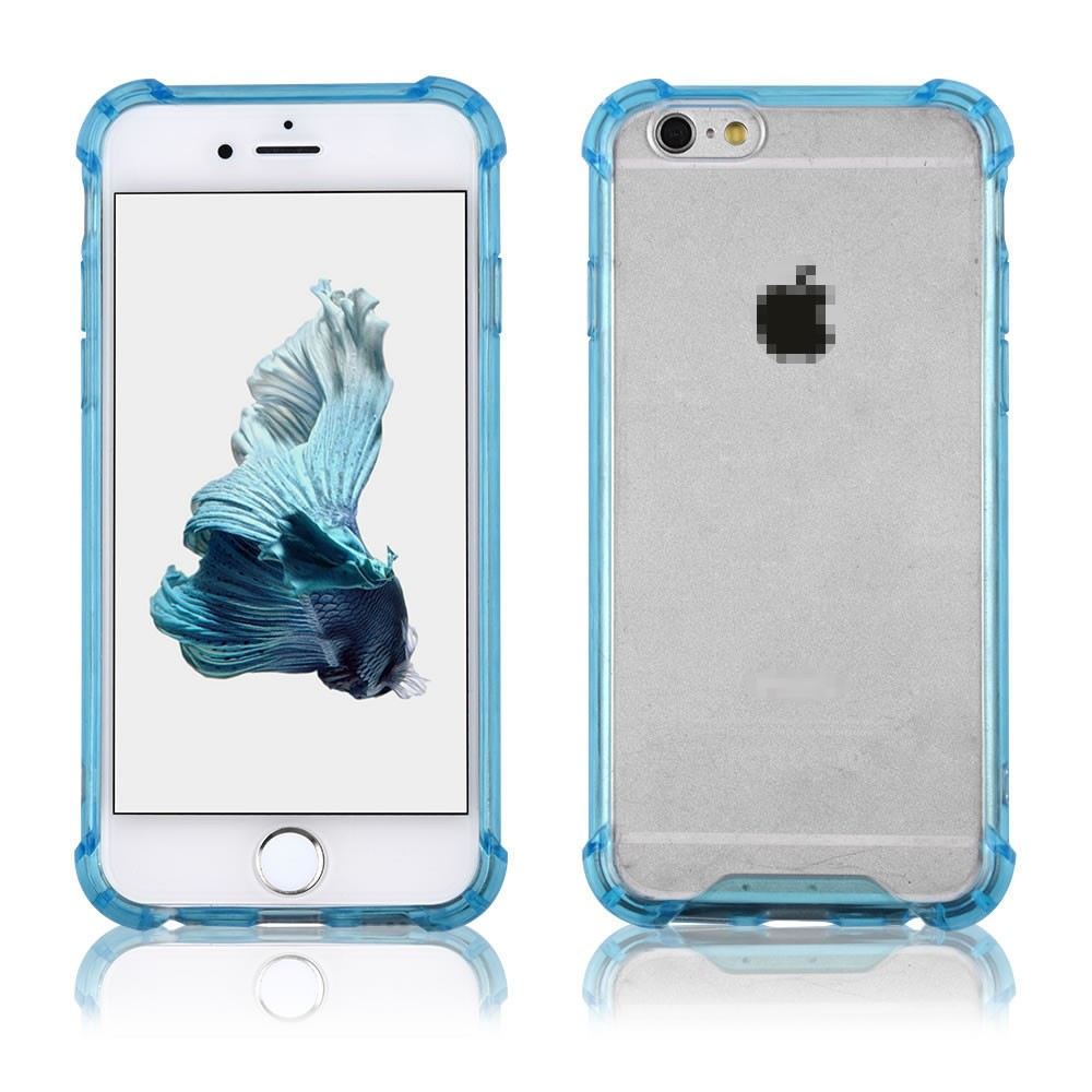 C&T Transparent Clear Case Soft TPU Bumper Hard Clear Back Panel Shockproof Cover for Apple iPhone 6s