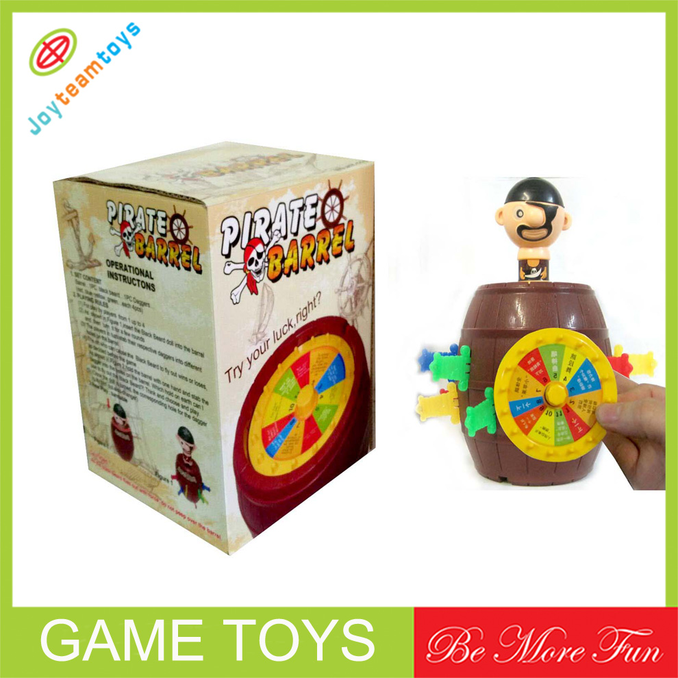 JTE02900 sportful pirate barrel funny game toys for sales