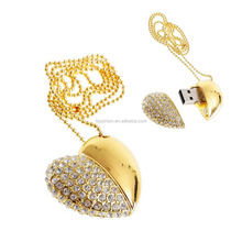 Deluxe Heart Shape Crystal Dimonds Metal USB Flash Dirve With 4gb-32gb, Wholesale China