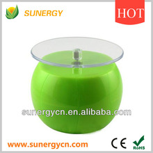 solar round apple shaped rotating advertising display platform for digitals