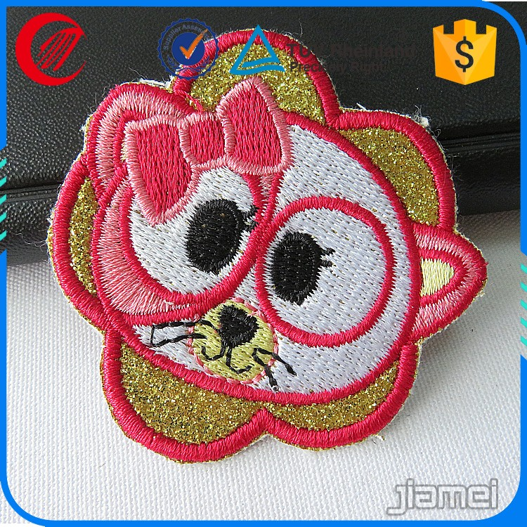 Kids clothing flower sew on embroidery patch design