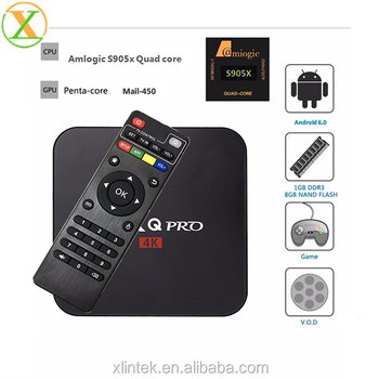 Hot Selling MX pro MXG pro tv box 1GB RAM 8GB ROM S905X KODI 17.1 4K HD Android 6.0 Desi TV Box X96