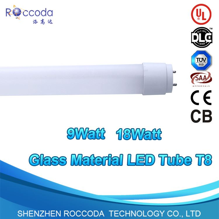ce listed 18W 2Ft Cool White 4000K LED T8 T10 Fluorescent Tube Light G13 DLC