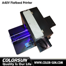 a4 flatbed UV printer , 6-color uv ink printing machine can print out embossing effect