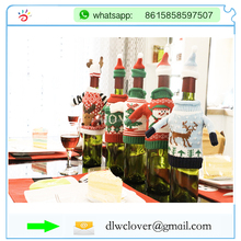 Hot xmas cloth wine beer bottle cover bag 2017 Christmas decoration bottles bags gift home new years decor products