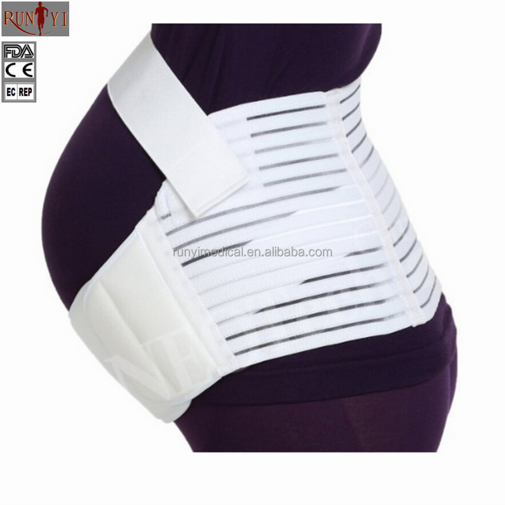 Maternity Belt - Pregnancy Support - Waist / Back / Abdomen Band, Belly Brace - White Color - Size XL