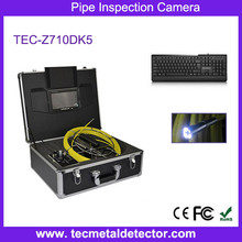 20m to 100m Fiberglass Cable CCTV Camera Drain Pipe Inspection Camera System with 6mm camera TEC-Z710DK5