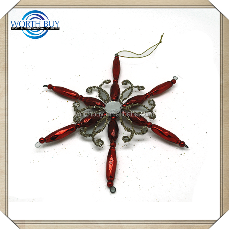 2014 Best Selling Plastic Outdoor Ornament /Christmas Hanging Snowflake