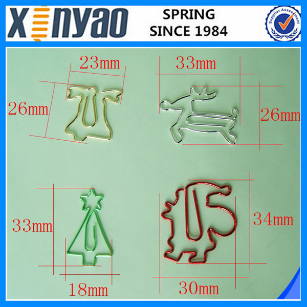 Hight quality promotional gifts custom shape paper clip designer paper clips