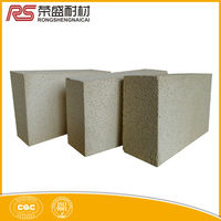 Energy saving refractory brick for glass furnace doghouse