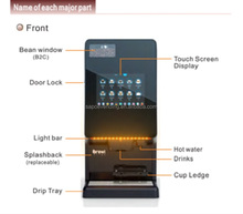 Automatical High-end commercial Saeco espresso bean to cup coffee machine manufacturer