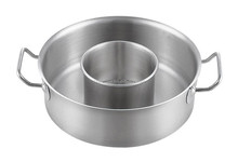 Two Handle Stainless Steel Child-Mother Relation Pot Without Lid