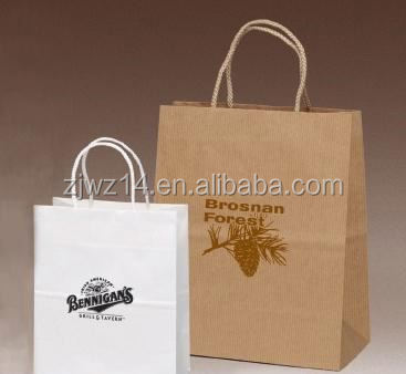 2015 fashion handbag paper bag/ roast chicken paper bag with window/ takeaway paper bag for roast chicken packing